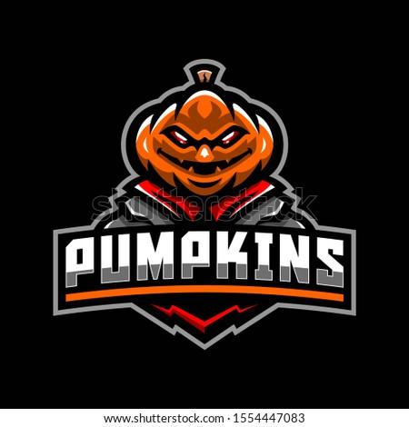 halloween pumpkin mascot logo