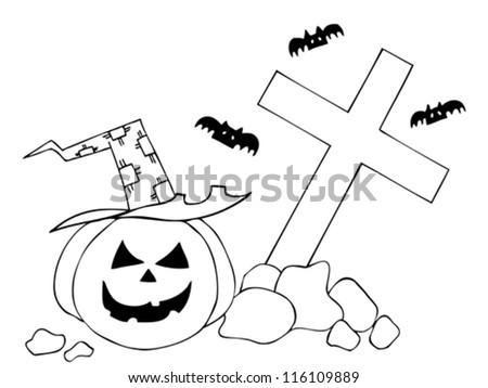 Mano libre dibujada ilustración de Halloween - Descargue Gráficos y ...