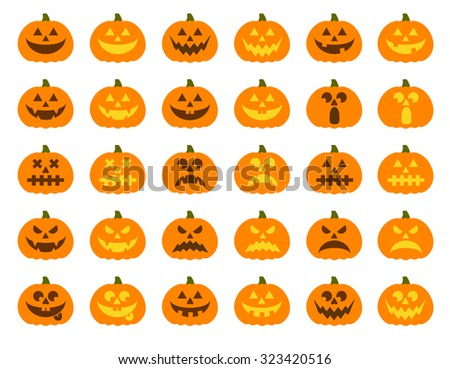 halloween pumpkin vector 30