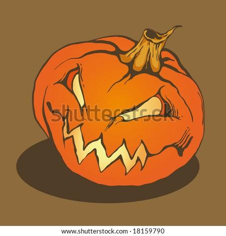 halloween pumpkin, vector illustration