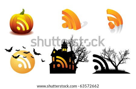 Halloween Pumpkin vector RSS - October