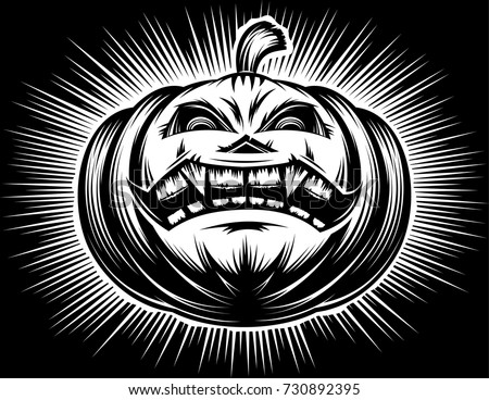halloween pumpkin with carved