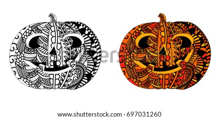 halloween pumpkin with ethnic
