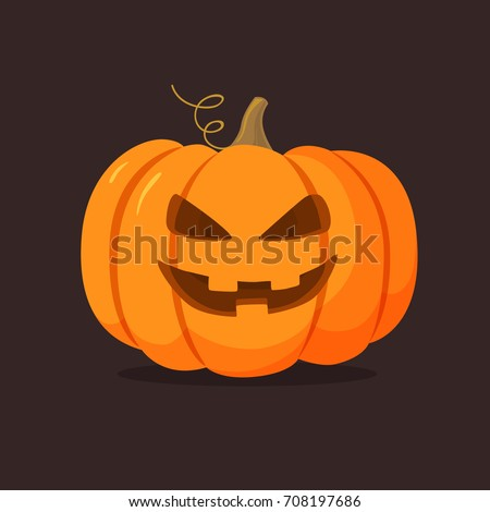 halloween pumpkin with happy