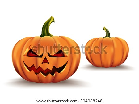 halloween pumpkin with scary