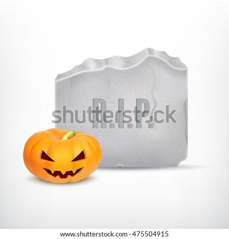 halloween pumpkin with tomb
