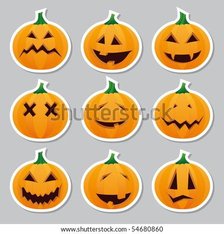 Halloween pumpkins - stickers