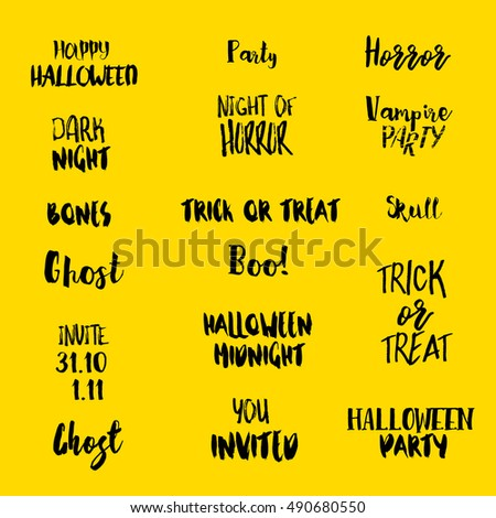 halloween quotes isolated on