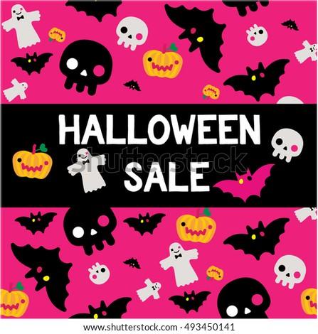 halloween sale poster pink