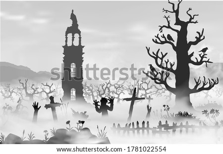 halloween scareful landscape