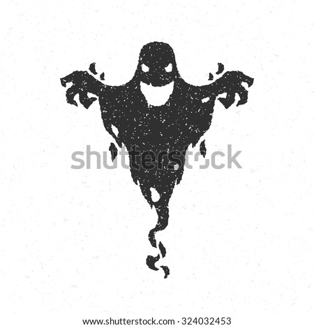 halloween scary ghost isolated