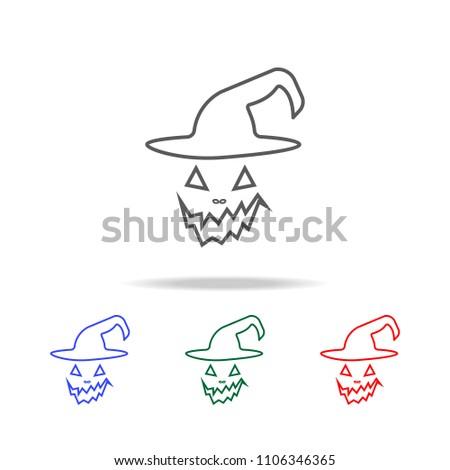 halloween scary pumpkin face