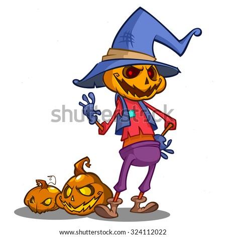 halloween scary pumpkin head