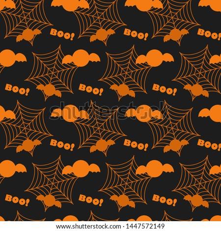 halloween seamless pattern bat