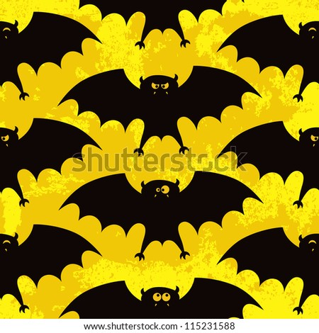 Halloween seamless pattern with funny bats. EPS 10 vector illustration. RGB.