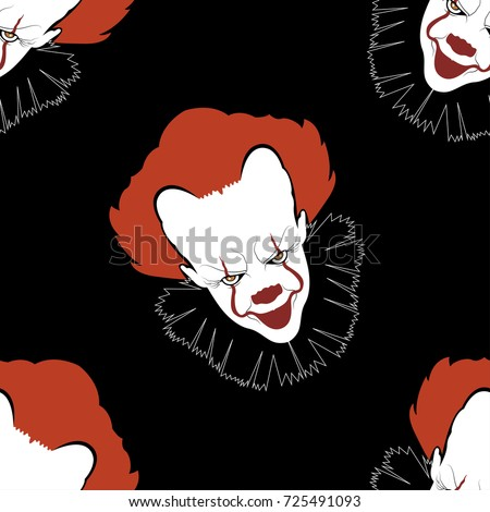 halloween seamless pattern with