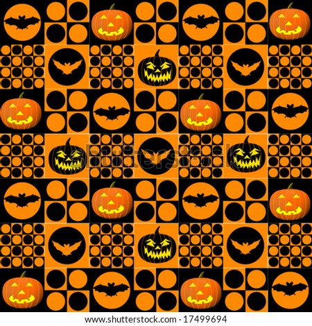 Halloween Seamless Tile Background