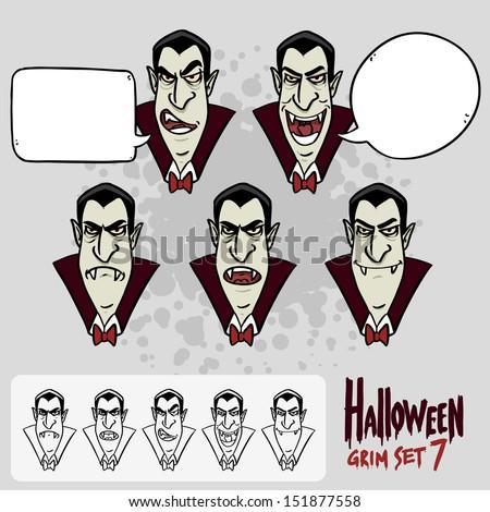 halloween set 7 dracula's face