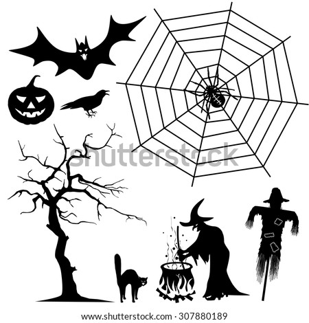 halloween silhouette collection