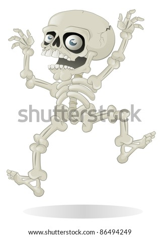 Halloween Skeleton jumping with fright