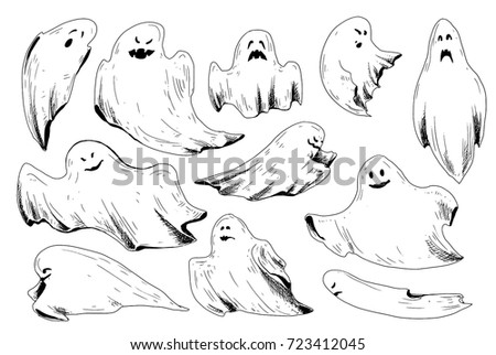 halloween sketch icons
