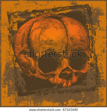 halloween skull and grunge