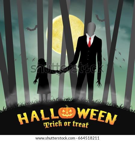halloween slender tall man with