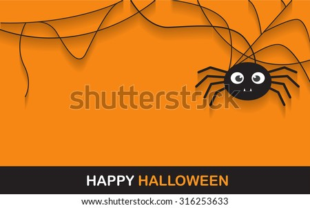halloween spider concept.  banner background for Halloween Party night