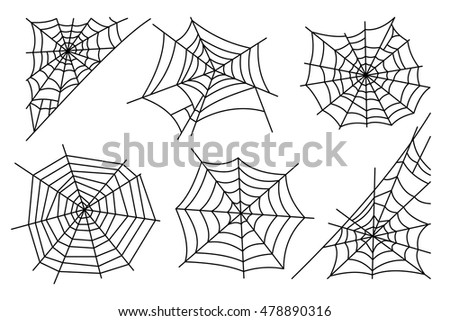 halloween spider web isolated