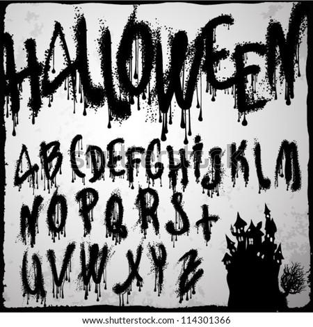 halloween splashvector grunge