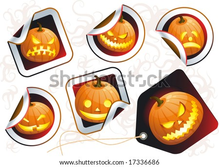 Happy Halloween Stickers - Download Free Vector Art, Stock ...