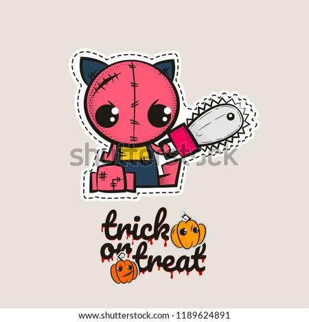 halloween stitch zombie kitty