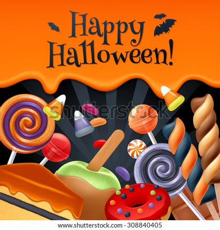 halloween sweets colorful party