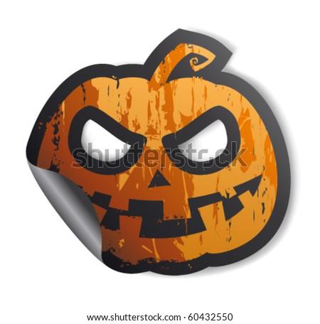 Halloween symbol, sticker.