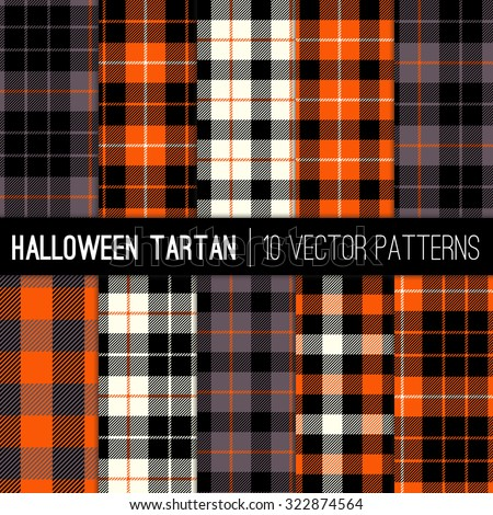 halloween tartan plaid patterns