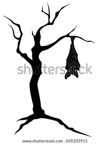 halloween theme bat hanging on