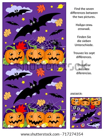 halloween themed visual puzzle