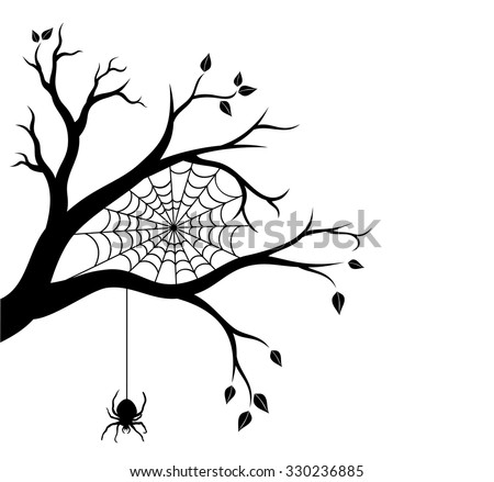spooky tree silhouette download free vector art stock graphics