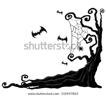 Halloween Tree - Download Free Vector Art, Stock Graphics & Images