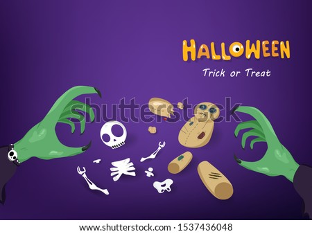 halloween  trick or treat  hand