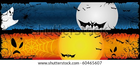 Halloween two banners set 120 x 600