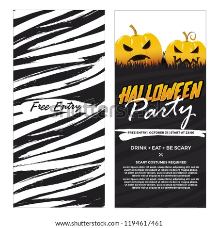 halloween two sides  banners