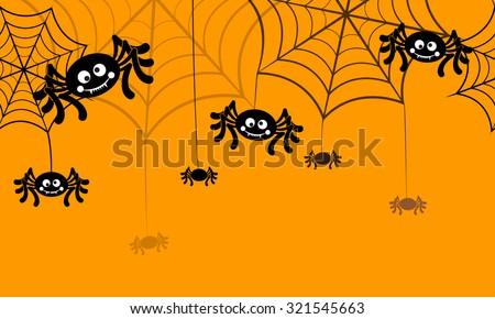 Halloween vector background seamless pattern. Spider web, halloween symbols. Halloween silhouette for halloween party. Halloween seamless background, spider vector. Halloween spider seamless pattern
