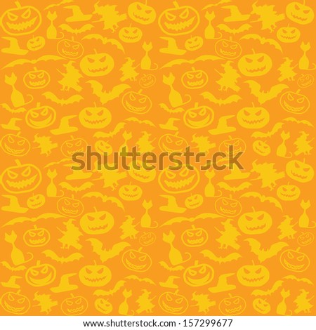 Halloween vector background with copy space