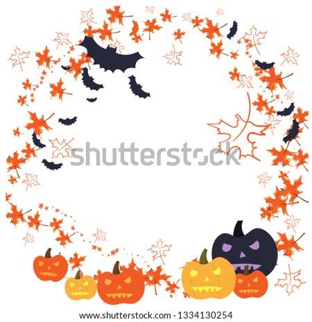 Halloween vector card #1334130254