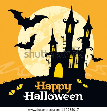 Halloween vector card. Vector art