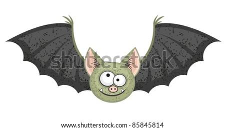 halloween vector cartoon bat