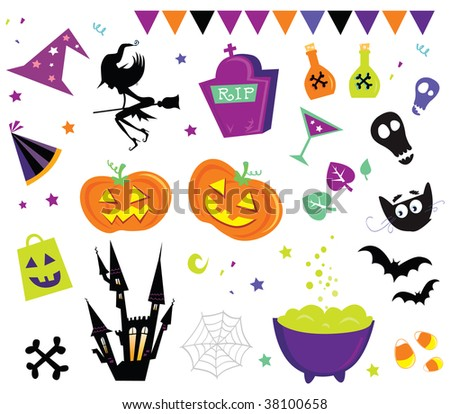 Halloween vector Icons set III. Halloween vector icons.