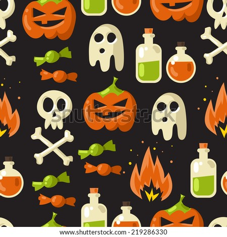 halloween vector seamless