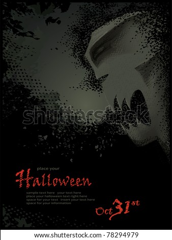 Halloween vector series.Halloween vector template. Grouped and layered objects for easy editing